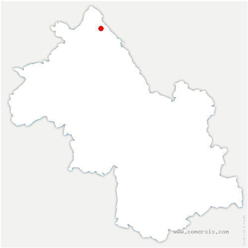 carte de localisation de Bouvesse-Quirieu