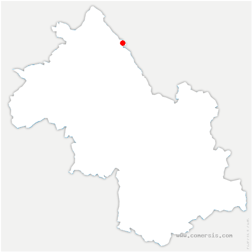 carte de localisation de Brangues