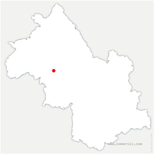 carte de localisation de Brézins