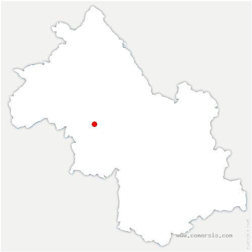 carte de localisation de Brion
