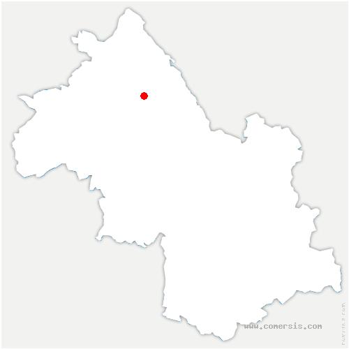 carte de localisation de Cessieu