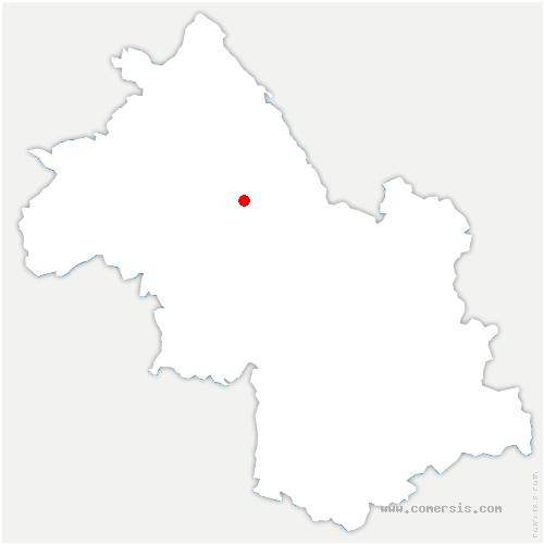 carte de localisation de Châbons