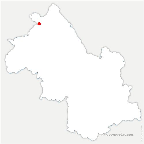 carte de localisation de Chamagnieu