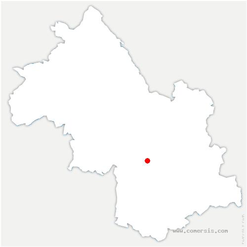 carte de localisation de Champagnier