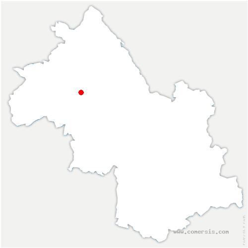 carte de localisation de Champier
