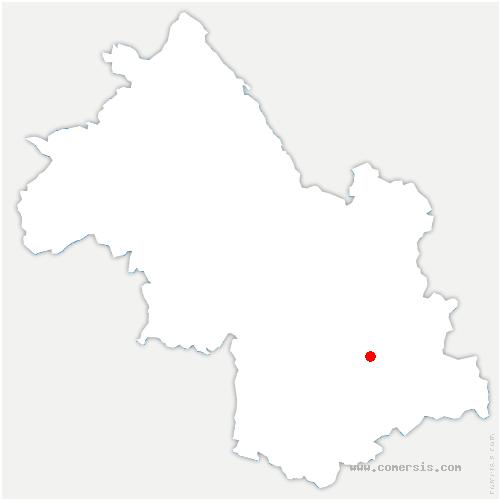 carte de localisation de Chantepérier