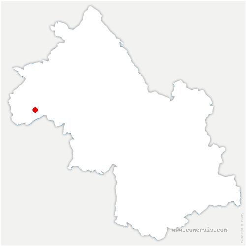 carte de localisation de Chapelle-de-Surieu