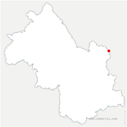 carte de localisation de Chapelle-du-Bard