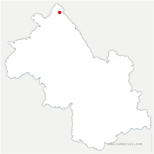 carte de localisation de Charette