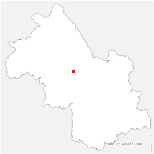 carte de localisation de Charnècles