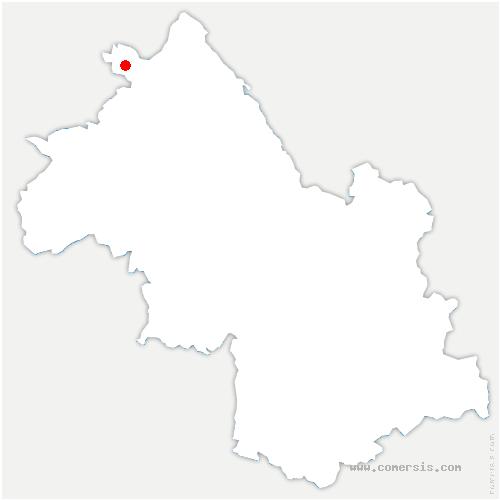 carte de localisation de Charvieu-Chavagneux