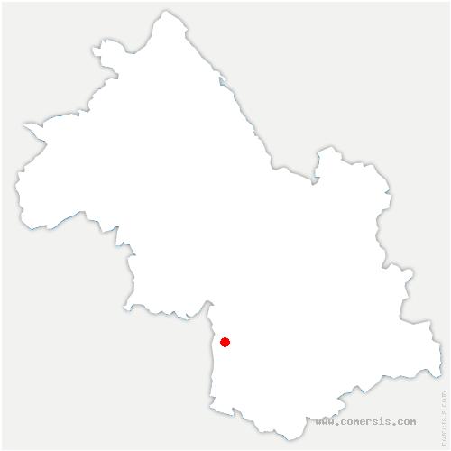 carte de localisation de Château-Bernard