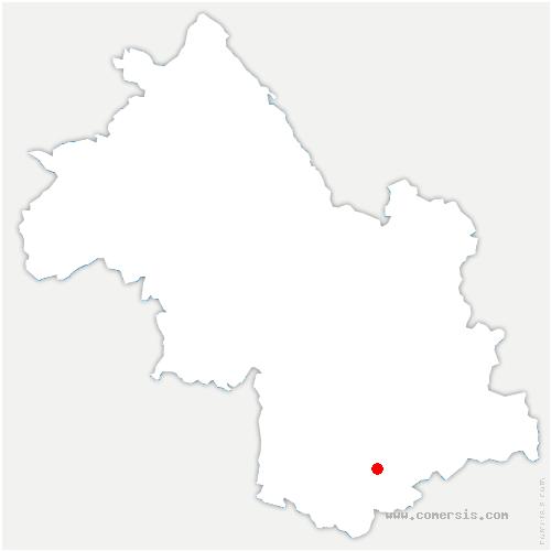 carte de localisation de Châtel-en-Trièves