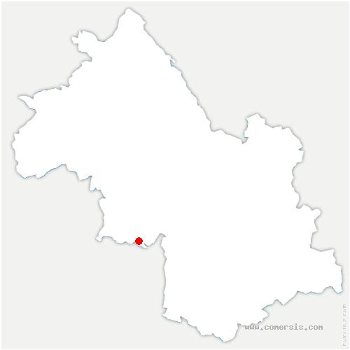 carte de localisation de Châtelus
