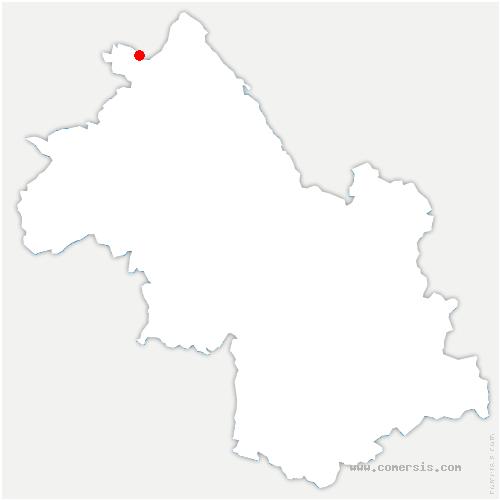 carte de localisation de Chavanoz