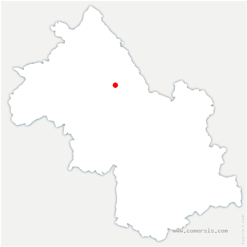 carte de localisation de Chélieu