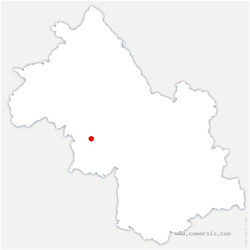 carte de localisation de Chevrières