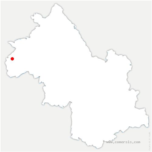 carte de localisation de Chonas-l'Amballan