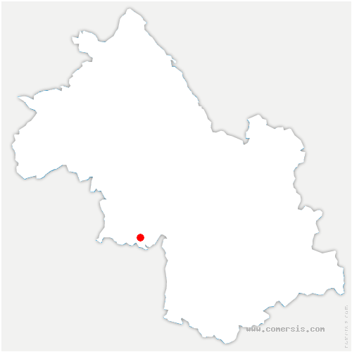carte de localisation de Choranche