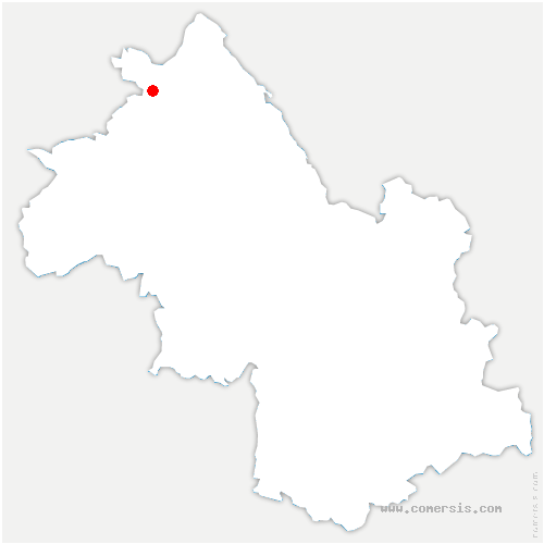 carte de localisation de Chozeau