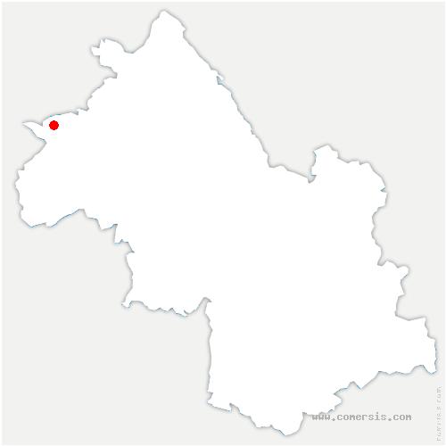 carte de localisation de Chuzelles