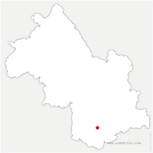 carte de localisation de Cognet