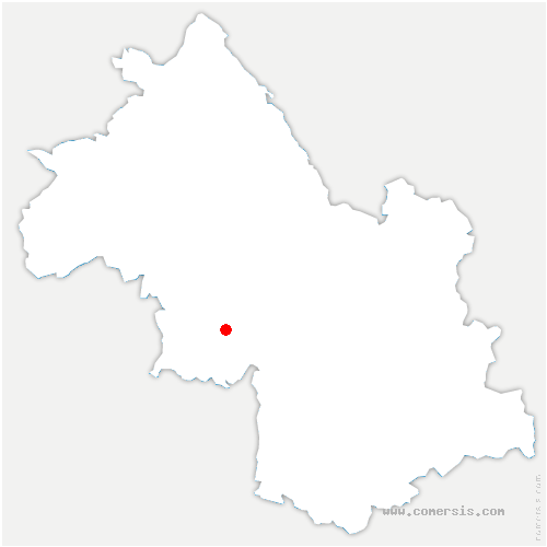 carte de localisation de Cognin-les-Gorges