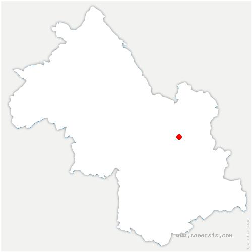 carte de localisation de Combe-de-Lancey