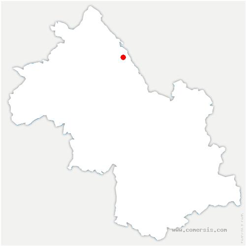 carte de localisation de Corbelin