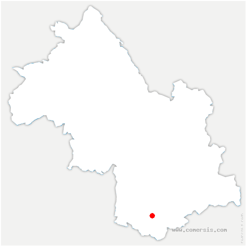 carte de localisation de Cornillon-en-Trièves