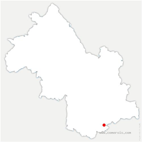carte de localisation de Corps