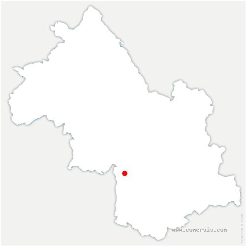 carte de localisation de Corrençon-en-Vercors