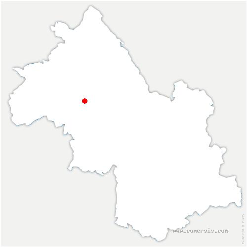 carte de localisation de Côte-Saint-André