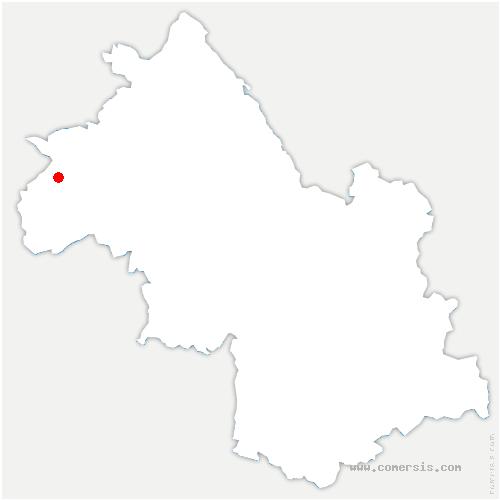carte de localisation de Côtes-d'Arey