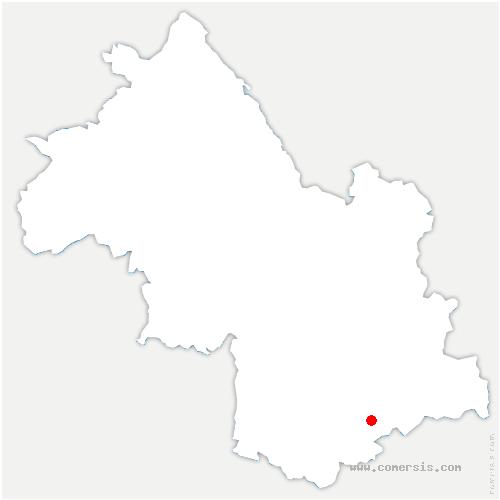 carte de localisation de Côtes-de-Corps
