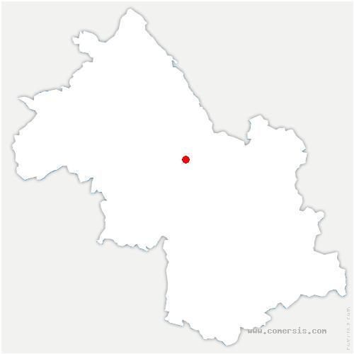 carte de localisation de Coublevie