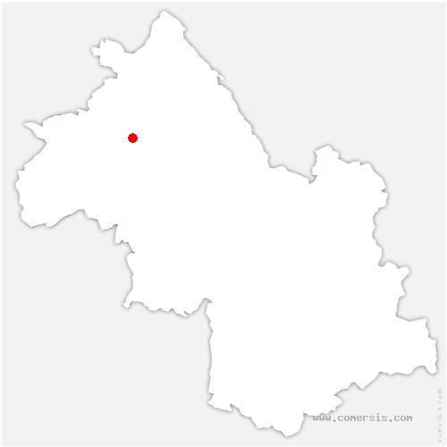 carte de localisation de Crachier