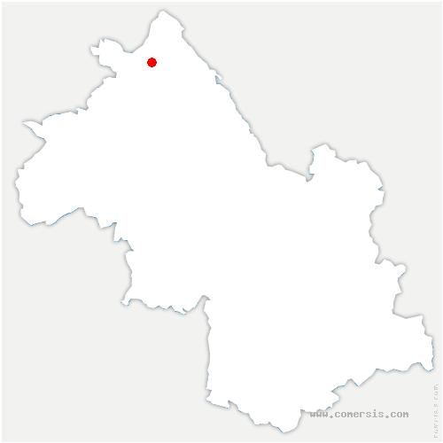 carte de localisation de Crémieu