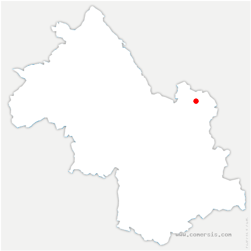 carte de localisation de Crêts-en-Belledonne