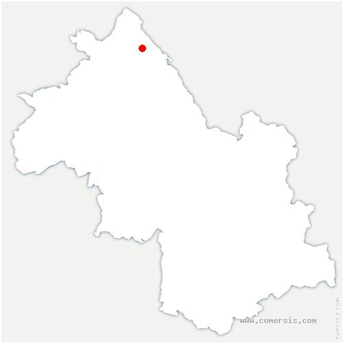 carte de localisation de Creys-Mépieu