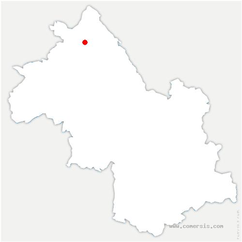 carte de localisation de Dizimieu