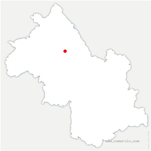 carte de localisation de Doissin