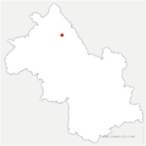 carte de localisation de Dolomieu