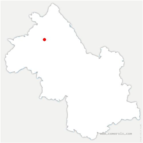 carte de localisation de Domarin