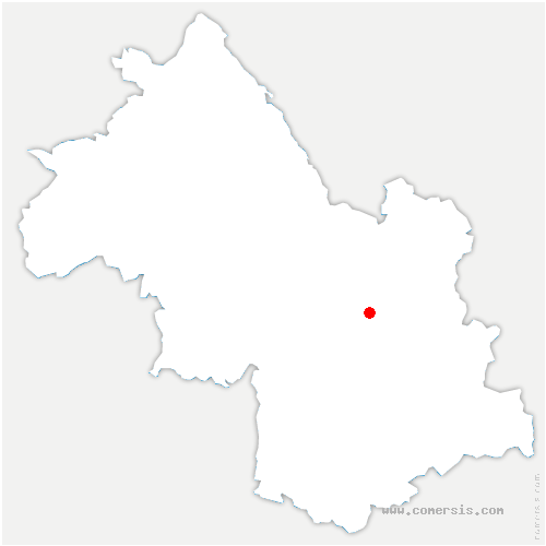 carte de localisation de Domène