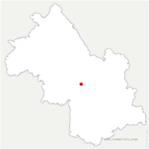 carte de localisation de Engins