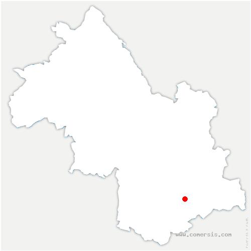 carte de localisation de Entraigues