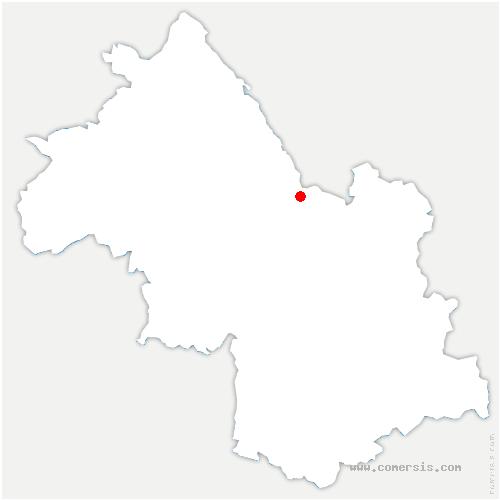 carte de localisation de Entre-deux-Guiers