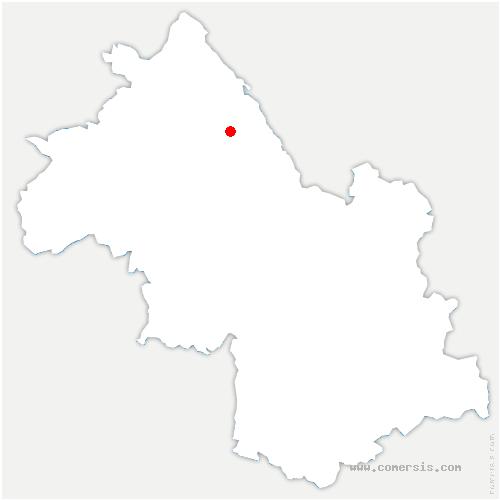 carte de localisation de Faverges-de-la-Tour