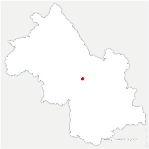 carte de localisation de Fontanil-Cornillon